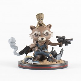 MARVEL- Figurine Q-FIG ROCKET & GROOT 9cm